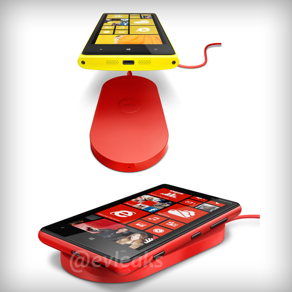 Kabelloses Ladegerät für die Windows Phone 8 Geräte Nokia Lumia 920 und Nokia Lumia 820